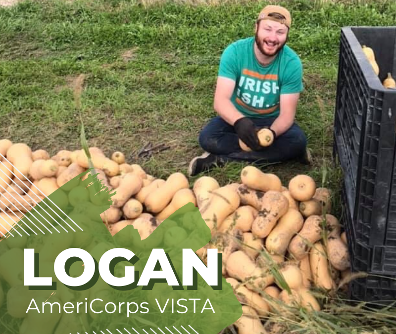 Welcome Logan, our new AmeriCorps VISTA